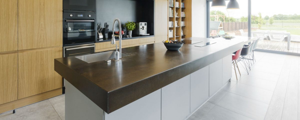 kitchen concrete worktop